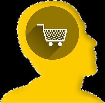 Icon, Head, Profile, Shopping Basket, Shopping Cart