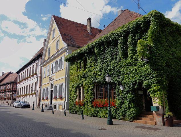 Lauterbourg, France, Town, Buildings, Architecture, Sky