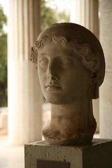 Agora, Athens, Statue, Stonework, Stone, Sculpture