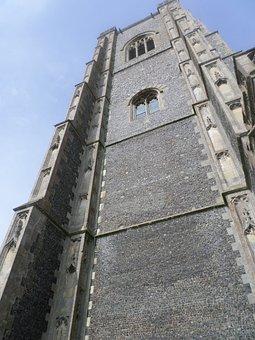 Lavenham Church, Church Tower, Tower, Stone