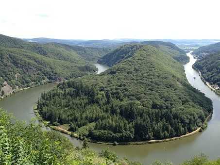 Saarland, Forest, Nature, Trees, River, Saar Loop