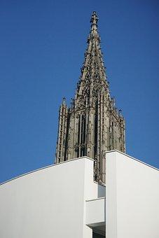 Ulmer, Münster, Building, Architecture, Steeple