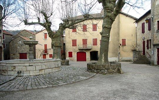France, Holy Eulalie Of Cernon, Village, Medieval