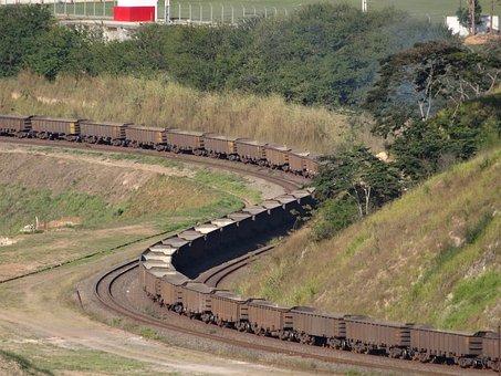 Train, Transport, Estrada De Ferro, Wagons, Ore