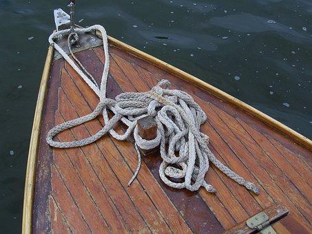 Sailing Boat, Wooden Boat, Bug, Rope, Sail, Dew