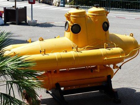 U Boat, Submarine, Dive Boat, Yellow, Boot, Diving