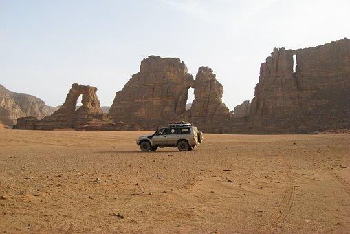 Algeria, Sahara, Desert, Sand, 4x4, Arches