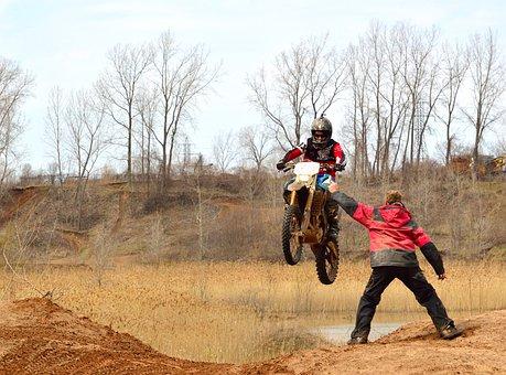 Dirt Bike, Motorcycle, Mud, Action, Dangerous, Jump
