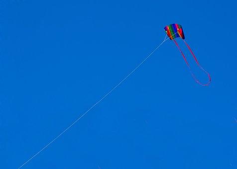 Kite, Dragons, Wind, Beach, North Sea, Holland, Blue