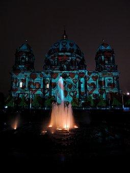 Berlin Cathedral, Berlin, Night, Festival Of Lights