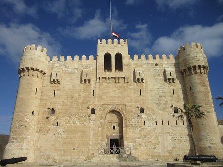 Egypt, Alexandria, Bey Citadel, Kaitbey Castle, Castle