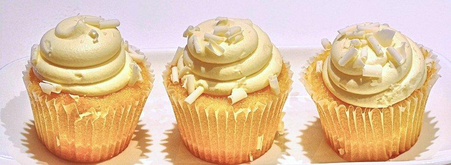 Lemon Cupcake, Coconut, Sweet Food, Dessert