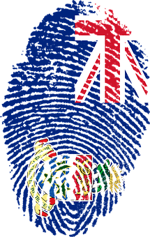 Cayman, Islands, Flag, Fingerprint, Country, Pride