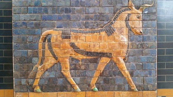 Istanbul, Museum, Turkish, Fresca, Wall, Art, Capricorn