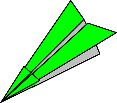 Paper Plane, Green, Airplane, Origami, Toy, Fly, Flight