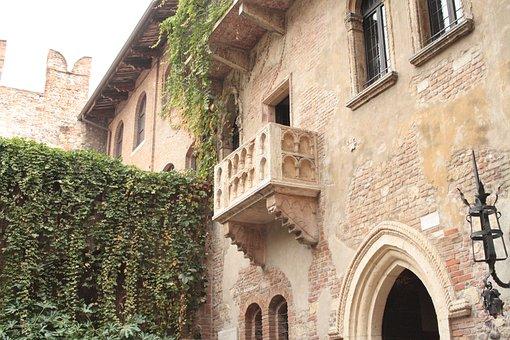 Verona, Balcony, Romeo, Juliet, Art, History