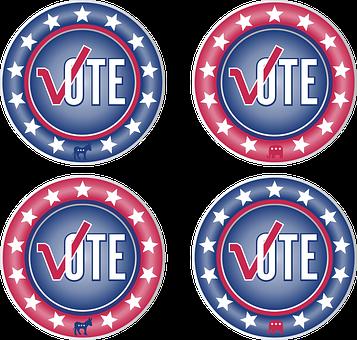 Icon, Button, Internet, Vote, Election, Republican