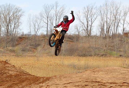 Dirt Bike, Motorcycle, Mud, Dangerous, Action, Jump