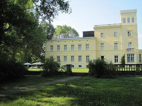 Schloß Steinhöfel, Castle, Park, Nature, Landscape