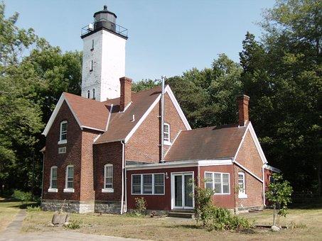 Lighthouse, Erie Pa, Presque Isle, Lake Erie