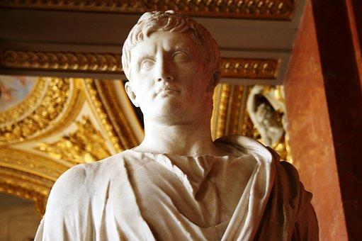 Augusto, Roman Emperor, Sculpture, Louvre