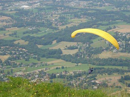 Paragliding, Mont Revard, Aix Les Bains, Mountain