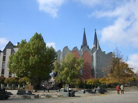 Cologne, Museum Ludwig, Dom, Church Steeples