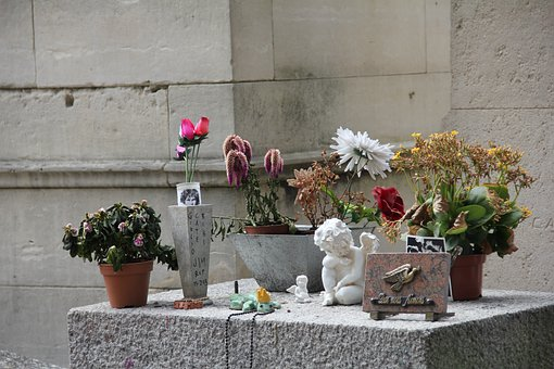 Jim Morrison's ' Grave, Tomb, Paris
