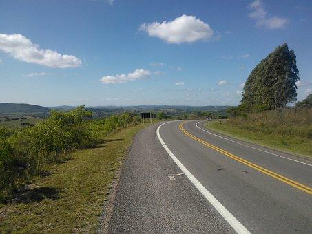 Road To Bage, Rio Grande Do Sul, Brazil
