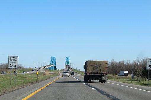 Highway, Road, Streets, Usa, Erie Lake, Bridge