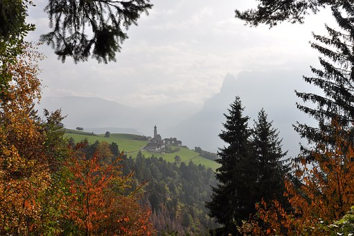 South Tyrol, View Of A Village, Landscape