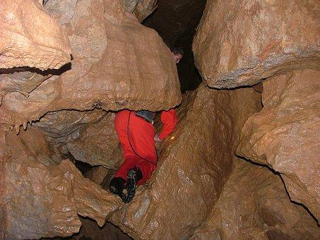 Cave, Stalactite, Nature, Stones, Caver, Hiding