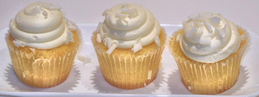 Lemon Cupcake, Coconut, Sweet, Food, Dessert