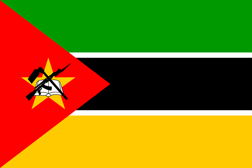 Mozambique, Flag, National, Symbol, Country, Ak-47