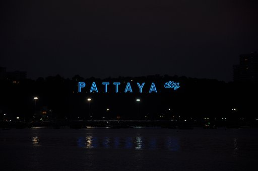 City, Thailand, Pattaya, Asia, Thai, Night, Dusk