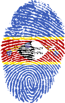 Swaziland, Flag, Fingerprint, Country, Pride, Identity