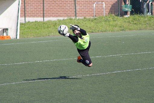 Goalkeeper, Training, Football, Defense, Fly