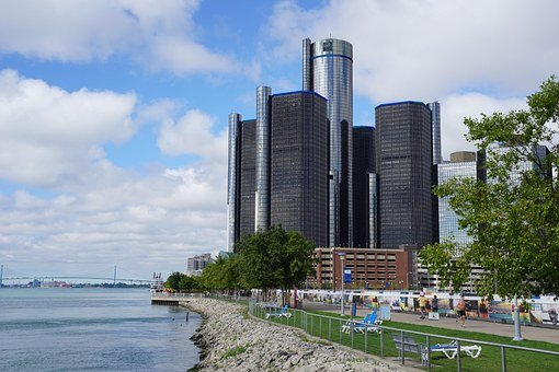 Detroit, Gm Renaissance Center, Detroit Skyline