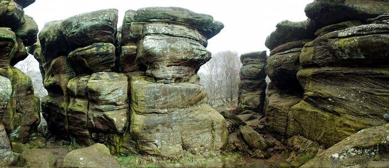Nature, Shapes, England, Brimham Rocks, Sedimentary