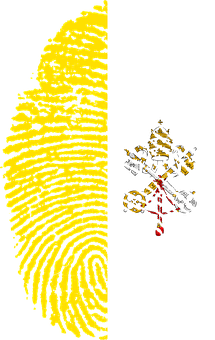 Vatican, City, Hoy See, Flag, Fingerprint, Country