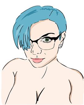 Comic, Girl, Glasses, Sara, Sara X, Sara X Mills, Sexy