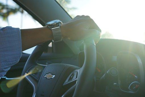 Car, Hand, Clock, Handle