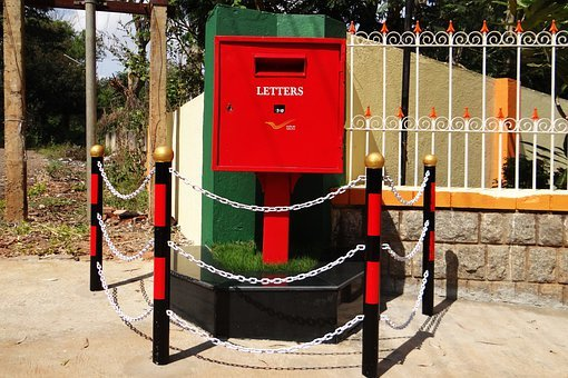 Letter Box, Post Box, Tv Type, Red, India Post