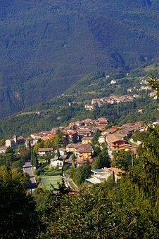 Tignale, Garda, Italy, West Bank, Mountain Views