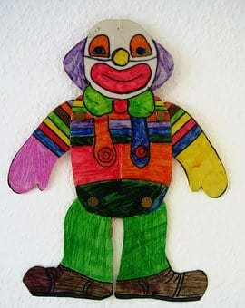 Clown, Drawing, Children Drawing, Paint, Smile, Laugh