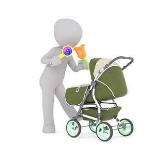 Baby Carriage, Baby, Baby-sitter, Play, Mom, Child