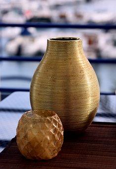 Vase, Copper, Pot, Decor, Bar
