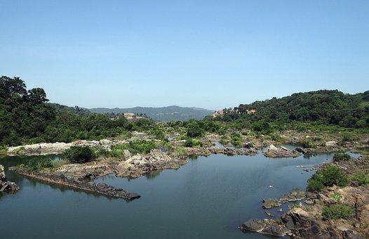 River, River Bed, Sharavati, Jog Falls, Western Ghats