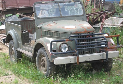 Jeep, Old, Car, Russian, Uaz, Military, Vintage, Grunge