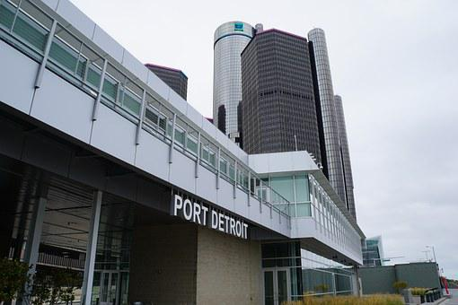 Port Detroit, Water, River, Gm Renaissance Center